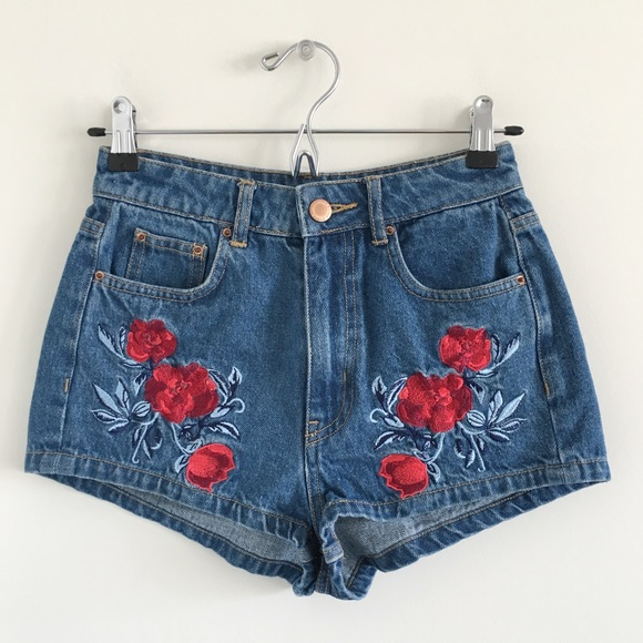 H&M Pants - H&M x Coachella High-Rise Embroidered Shorts 4